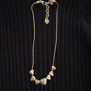 Brighton Silver Hearts Necklace